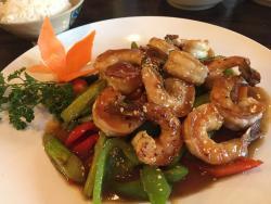 Bento and shrimp