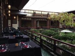 Outdoor seating at the Yamashiro