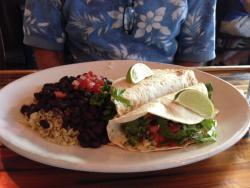 Yum!  Fish tacos!