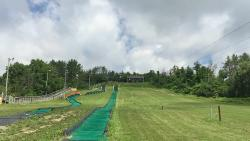 Tubing on left, zip lines centre/right of image.