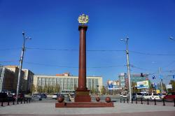 Stele to Labour Feat of Leningrad Citizens Evacuated to Novosibirsk in 1941-1943