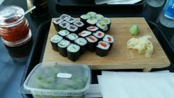 My Sushi Dish and Edamame at Jingjing Asia Restaurant