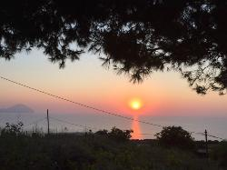 Beautiful sunset from L'Oasi