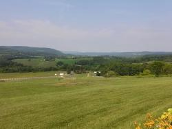 View from hotel near Howe caverns.
