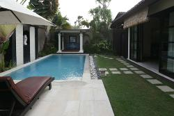 The pool with the bedroom off to the left