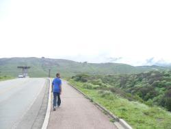 walking trail to mount aso