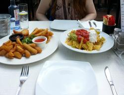 Sharing Platter and Nachos