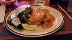 Swordfish stuffed with crabmeat