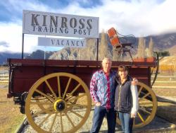 Standing in front of the original Kinross Wagon