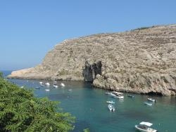 Xlendi Beach, Cliff and Caves