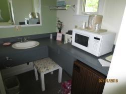 microwave and mini frig