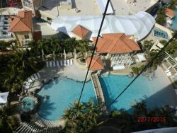 View of the swimming pool fm the balcony of Chevron Tower 2 Apt 2205