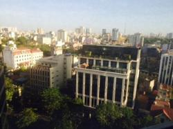 This is the view from my room on the 10th floor