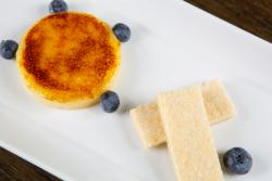 burnt lemon cream, homemade shortbread