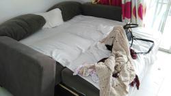 Bathroom, wardrobes, sofa beds.