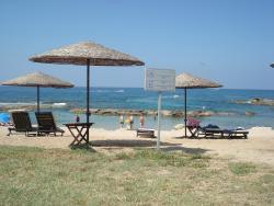 Hotel beach bathing
