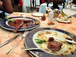Steak and lamb