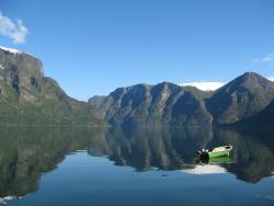 The Aurland fjord from Vangsgaarden Gjestgiveri