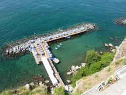 Sea bathing area.