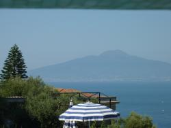 View of Vesuvius from hotel