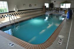 This hotel offers an indoor pool. The spa was removed. It cracked due to earthquakes.