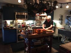 Le Maitre in the kitchen