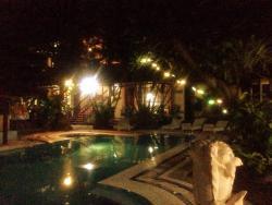 Night time pool lights