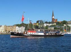 The Steamer Alexandra in Flensburg harbor.