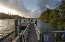 Public access dock on the Chehalis River