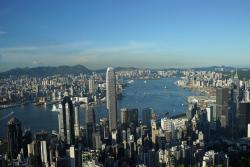 Hong Kong by day from my spot at the Peak