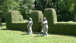 Sculptures in the hotel park