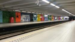 Ballade dans le metro Bruxellois