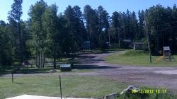 more of the camping area