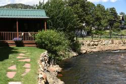 View of the cabin and the river