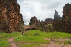 Strolling through the peaks of Sindou, Burkina Faso.