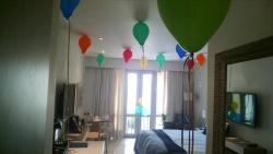 Balloon decorations for my Bday