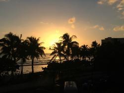 Waikiki sunset from the deck