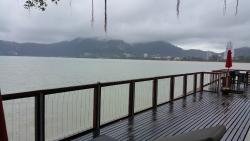 Mist colored mountains... Clouds on Patong Bay