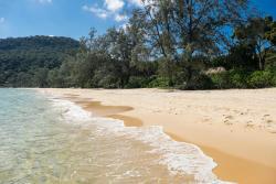 The beach belonging to Lazybeach resort.