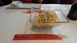 Ensalada de col del menú