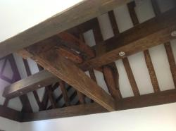 The ceiling in the Beams room