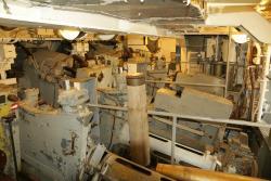 Inside the 8 inch gun
