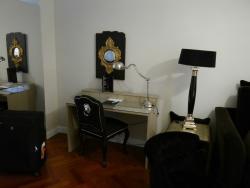 Desk in lounge area