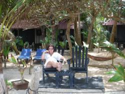 infront of cabana