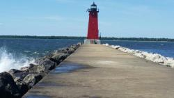 The Manistique Boardwalk and River Walk