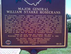 One of two historical markers on the square.
