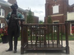 Sir John A Macdonald Sculpture Holding Court