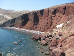 Plaża Red Beach Akrotiri