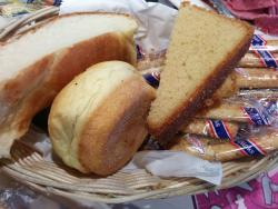 choice of warm bread in a basket