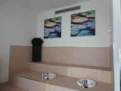 11階のフィットネスルームで足湯ができます